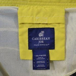 Caribbean Joe Swim - Caribbean Joe 2XL Swim Trunks Shorts Blue White St
